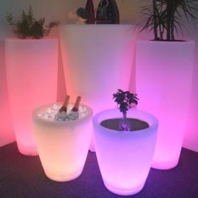 Socle LED pot de fleur