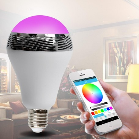 Ampoule LED RGB Musicale bluetooth