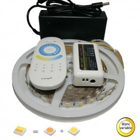 KIT Ruban LED blanc variable chaud-froid