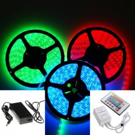 KIT ruban LED RGB 5050 (1 à 5m)