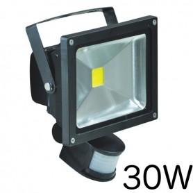 Projecteur LED 30W détecteur, lumière blanche