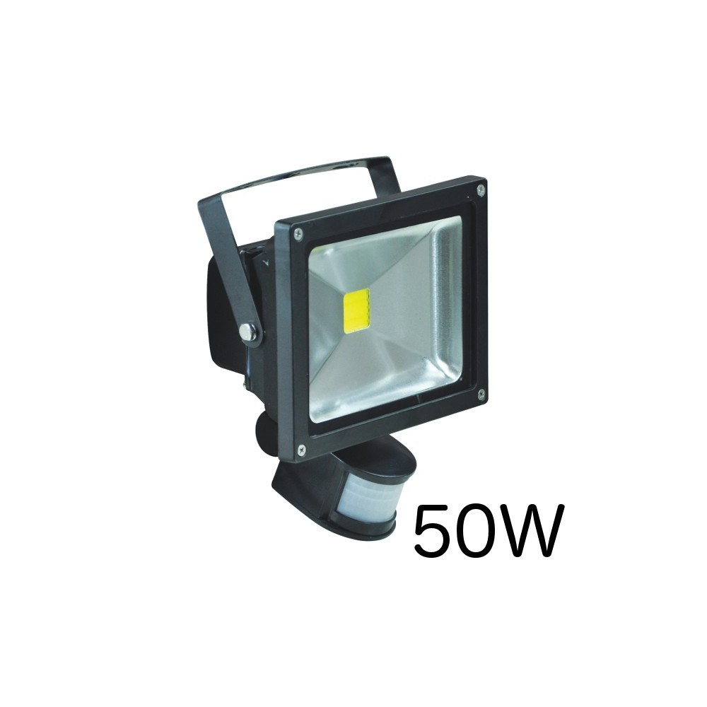 Projecteur led 50w avec detecteur gallery of e led projecteur led w noir et alu neutre - Projecteur led 50w ...