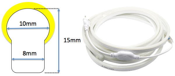 dimensions neon flexible LED SF
