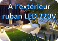 Ruban LED extérieur 220V