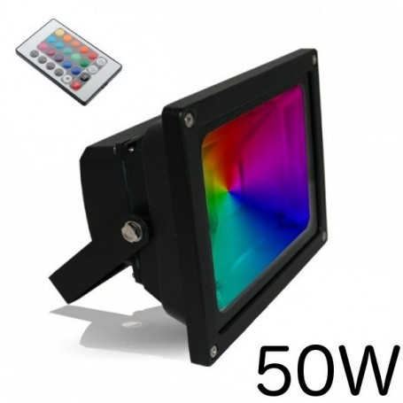 projecteur led 50w rgb ir inovatlantic. Black Bedroom Furniture Sets. Home Design Ideas