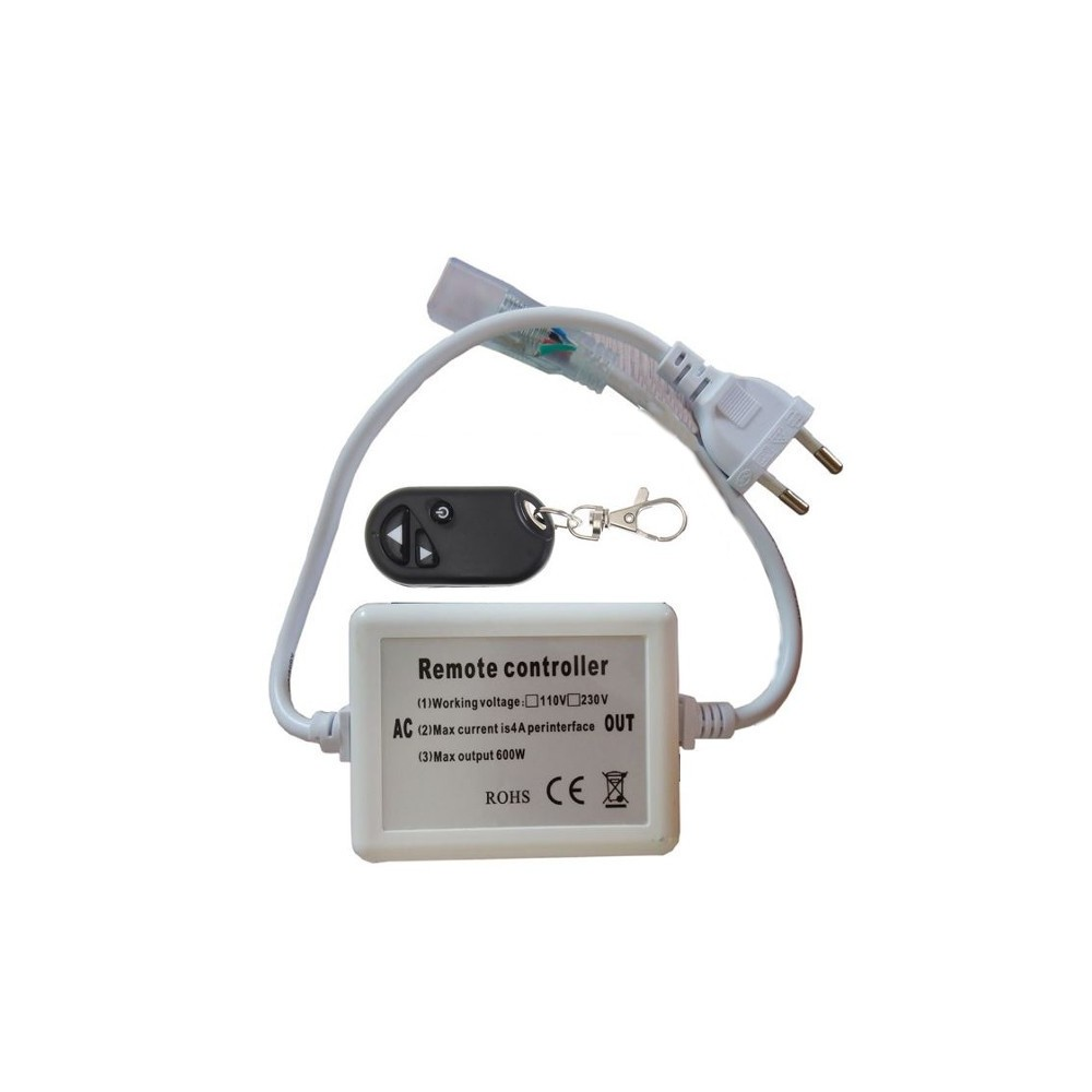 Connecteur interrupteur lectrique rf ruban led 220v mono - Connecteur ruban led ...
