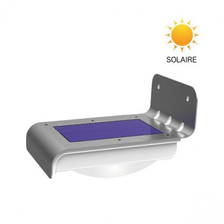 Lampe LED solaire inoxydable