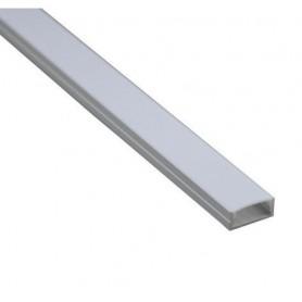 Profilé alu plat 1m pour ruban LED 12V étanche