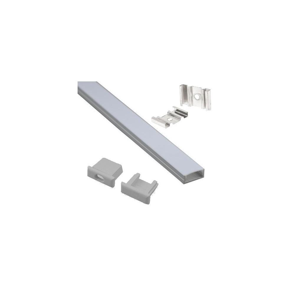 profil alu plat 1m pour ruban led 12v tanche inovatlantic. Black Bedroom Furniture Sets. Home Design Ideas