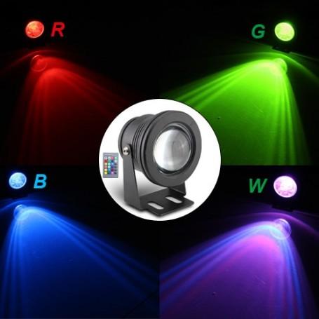 Lampe de jardin - Projecteur LED 10W RGB