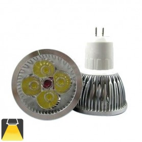 Spot LED 4W MR16 GU5.3 - Blanc chaud 3000K