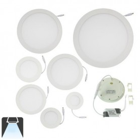 Panneau LED diamètre 105mm, puissance 4W, rond encastrable - Blanc froid