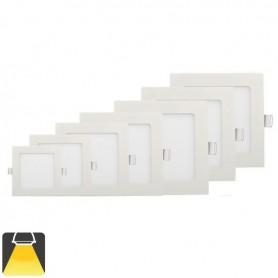 Panneau LED 147x147, 9W, carré encastrable - Blanc chaud 3000K