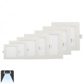 Panneau LED 225x225, 18W, carré encastrable - Blanc froid 6000K