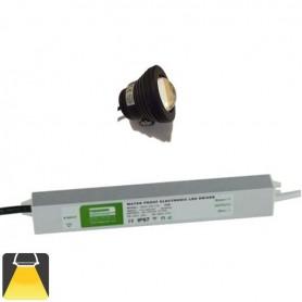 KIT 1 à 4 Projecteurs LED 10W étanche - Blanc chaud