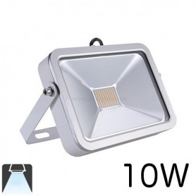 Projecteur LED plat 10W Boitier blanc