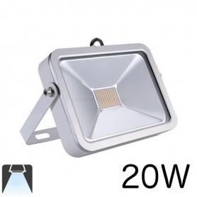 Projecteur LED plat 20W Boitier blanc