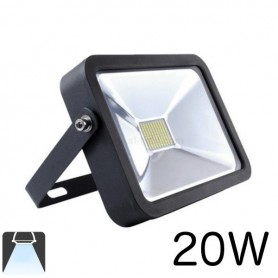 Projecteur LED plat 20W Boitier noir