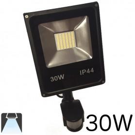 Projecteur LED plat 30W avec détecteur de mouvements