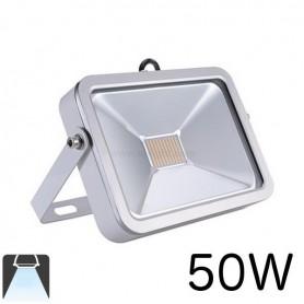 Projecteur LED plat 50W Boitier blanc