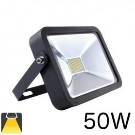 Projecteur LED plat LED noir 50W