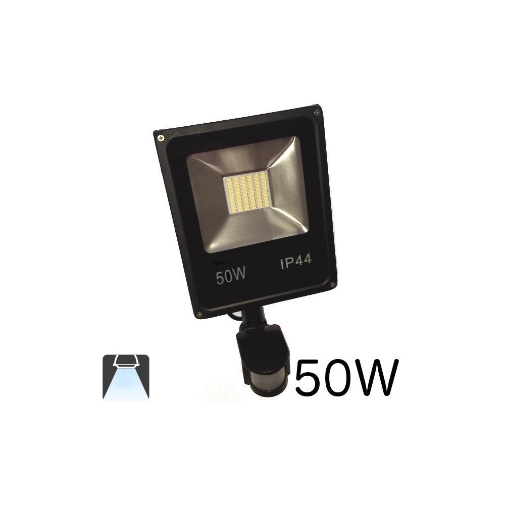 Projecteur led plat 50w avec d tecteur de mouvements for Projecteur led avec detecteur de mouvement