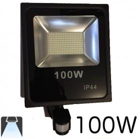 Projecteur LED plat 100W avec détecteur de mouvements