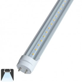 Tube LED T8 10W 60cm convercle transparent - Blanc froid 6000K