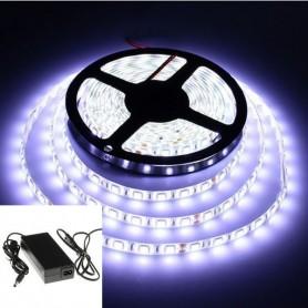 KIT ruban LED 12V 5050 (1 à 5m) - Blanc froid 6000K