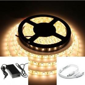 KIT ruban LED 5050 (10 à 30m) - Blanc chaud