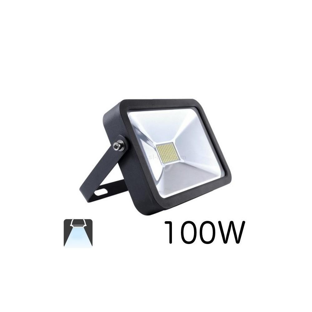 Projecteur led plat 100w boitier noir inovatlantic - Projecteur led 100w ...