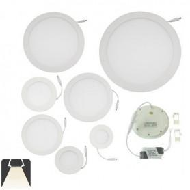 Panneau LED diamètre 90mm, puissance 3W, rond encastrable - Blanc naturel 4500K