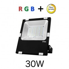 Projecteur LED 30W RGB + blanc variable RF