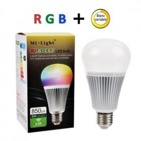 Ampoule Variable Rgb E27 Led blanc 9w OZPkuiTX