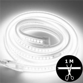 Ruban LED 230V 2835 sécable 1 mètre - Blanc froid 6000K