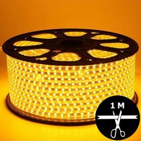Ruban LED 230V 5050 sécable 1 mètre - Jaune orangé
