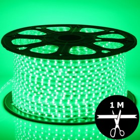 Ruban LED 230V 5050 sécable 1 mètre - Vert