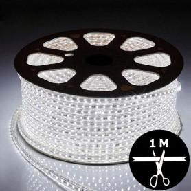 Ruban LED 230V 5050 sécable 1 mètre - Blanc froid 6000K