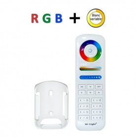 Télécommande multizones RGB + blanc variable RF 8 zones