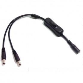 Connecteur 2 rubans mono sur 1 alim avec interrupteur