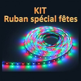 KIT ruban LED 12V RGB 3528
