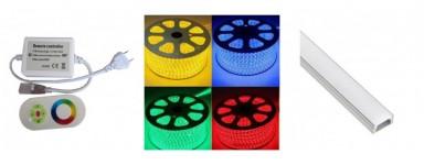 Ruban LED 230V RGB