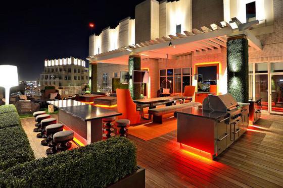ruban LED RGB 230V terrasse