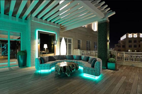 ruban LED RGB 230V pergolas