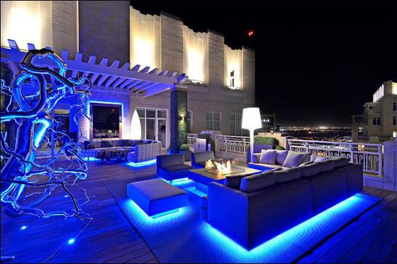 ruban LED 230V bleu