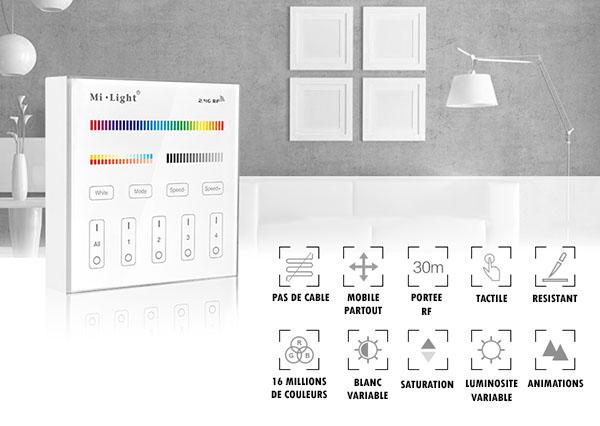 fonctions commande RGB murale multi zones