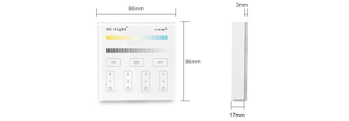 dimensions commande blac variable murale multi zones