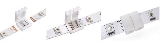 connecteur multicouleur ruban LED