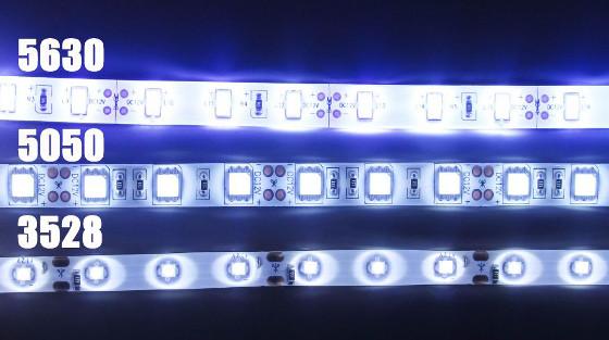 comparatif LED 5630 5050 3528