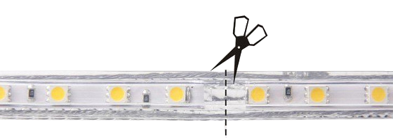 coupure ruban LED 230V